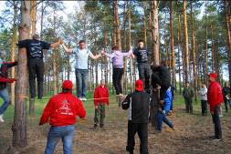 Фото с тренинга по командообразованию Forest Drive Dream Team