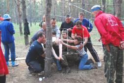 Фото с тренинга по командообразованию Forest Drive